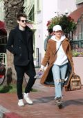 Ashley Tisdale and Christopher French grabs lunch at Red O Restaurant in Santa Monica, California
