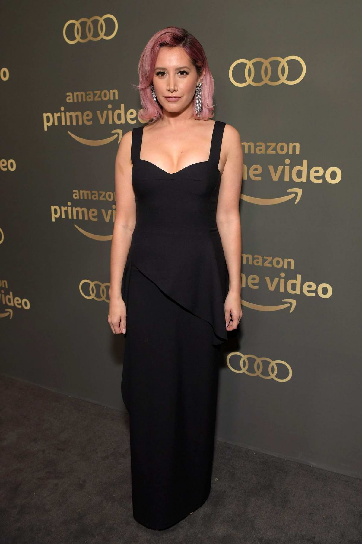 Ashley Tisdale attends the Amazon Prime Video's Golden Globe Awards After Party at the Beverly Hilton Hotel in Beverly Hills, California