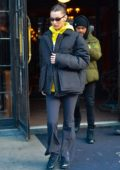Bella Hadid and The Weeknd seen leaving The Bowery Hotel in New York City