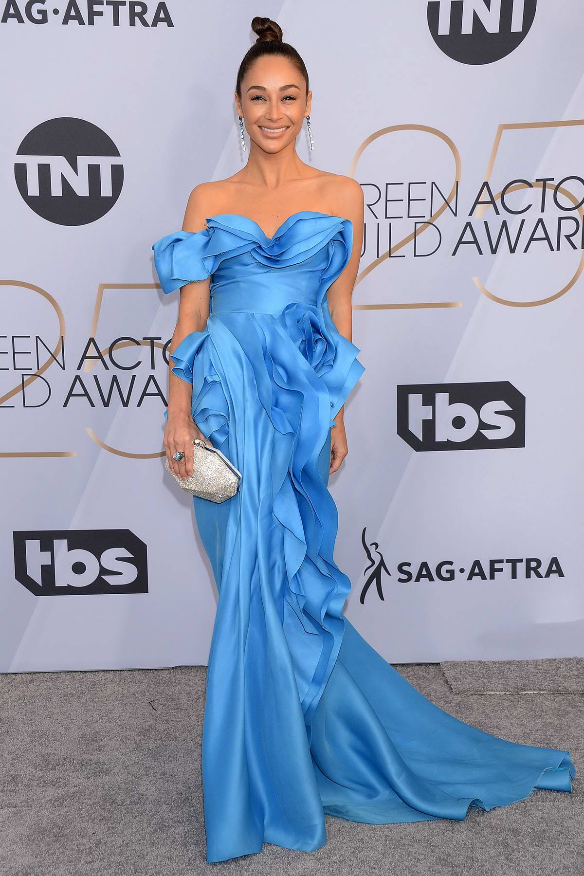 Cara Santana attends the 25th Annual Screen Actors Guild Awards (SAG 2019) at the Shrine Auditorium in Los Angeles