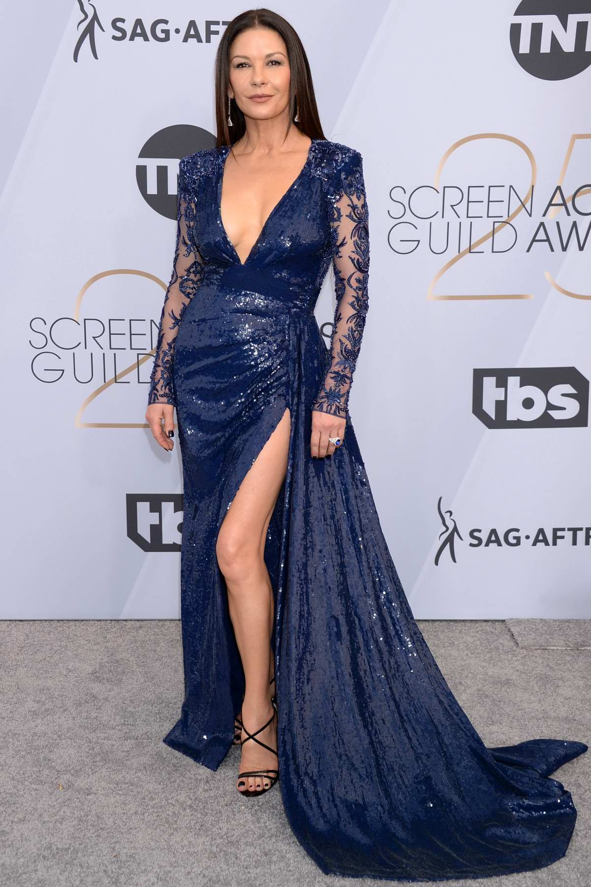 Catherine Zeta-Jones attends the 25th Annual Screen Actors Guild Awards (SAG 2019) at the Shrine Auditorium in Los Angeles