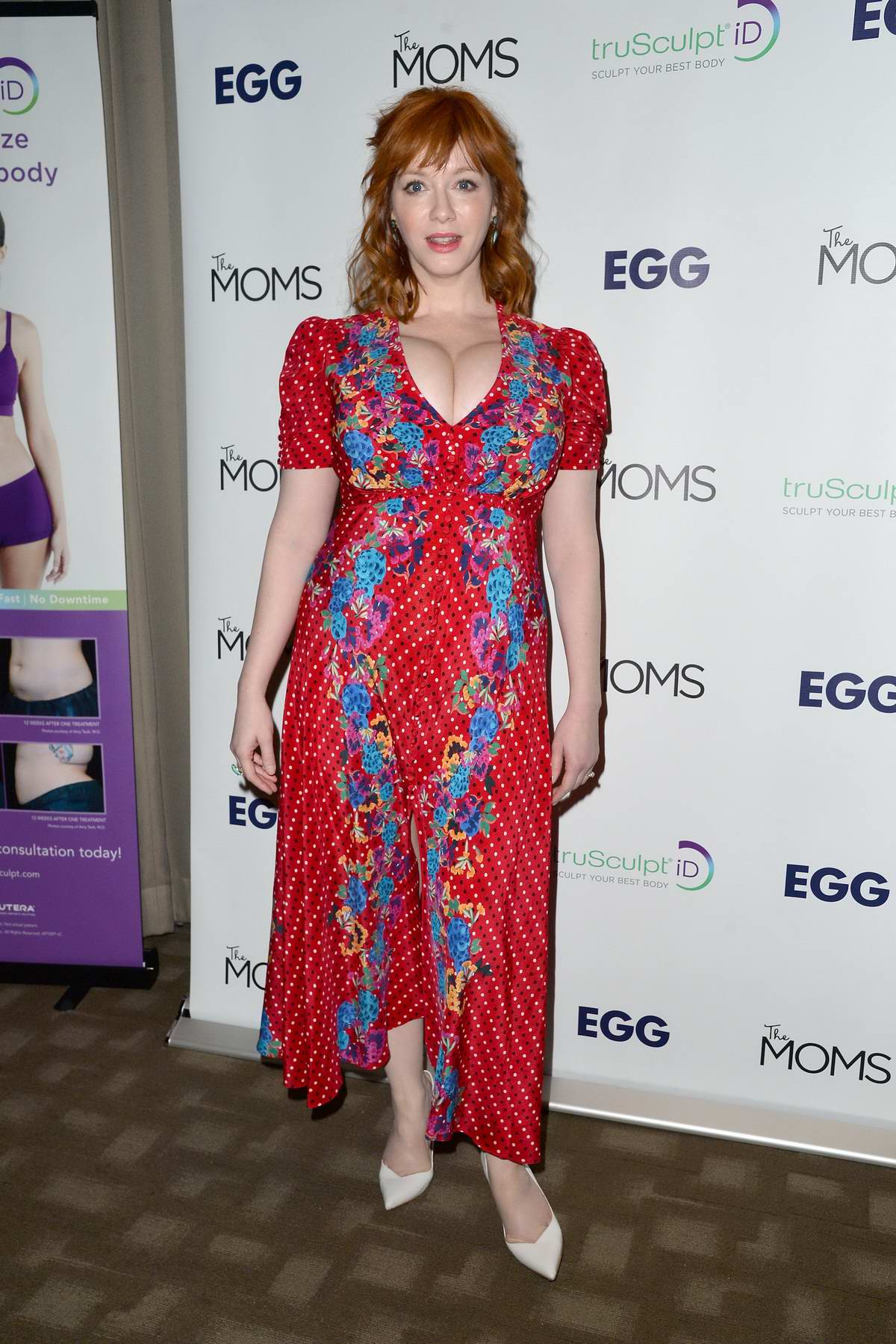 Christina Hendricks attends The Moms Mamarazzi event to celebrate the release of 'EGG' in New York City