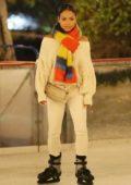 Christina Milian enjoys ice skating at Larsa Pippen's party in Los Angeles