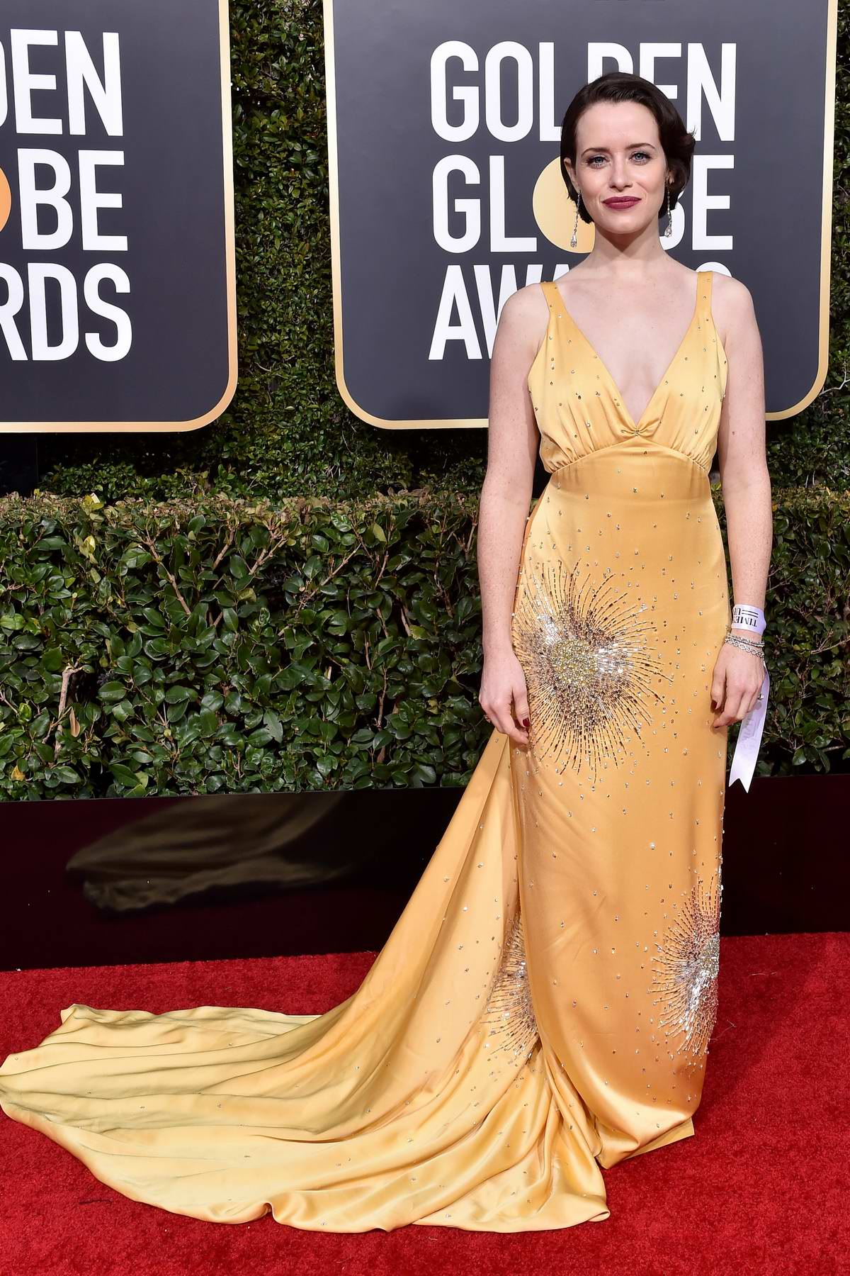 Claire Foy attends the 76th Annual Golden Globe Awards held at The Beverly Hilton Hotel in Los Angeles, California