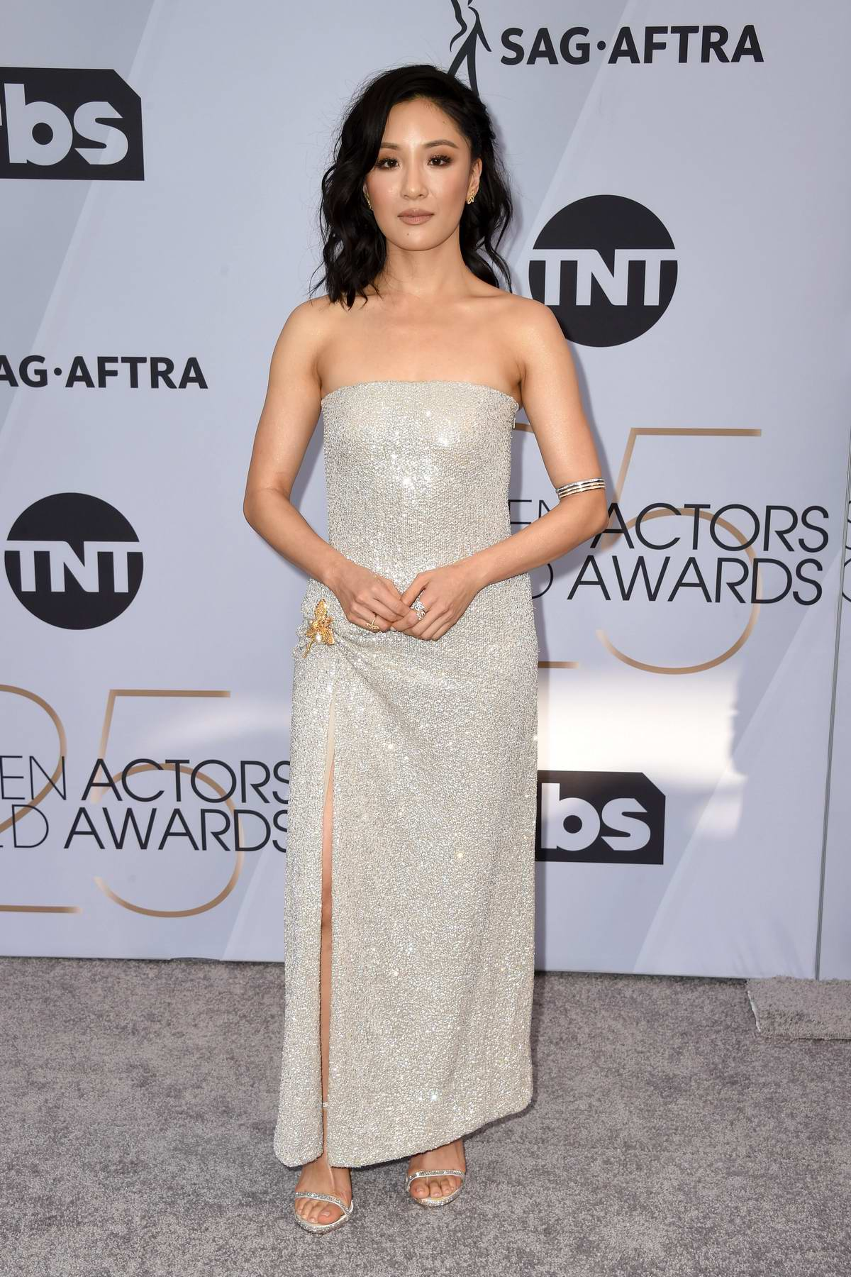 Constance Wu attends the 25th Annual Screen Actors Guild Awards (SAG 2019) at the Shrine Auditorium in Los Angeles