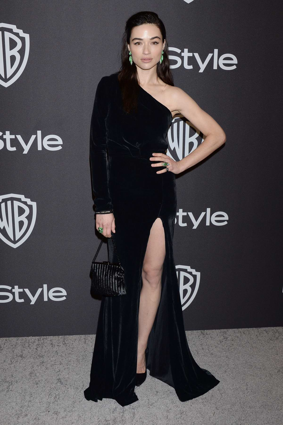 Crystal Reed attends InStyle and Warner Bros Golden Globe After Party 2019 at Beverly Hilton Hotel in Beverly Hills, California