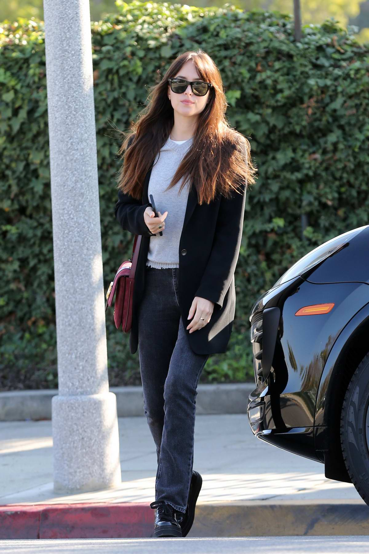 Dakota Johnson looks stunning as she leaves a skin clinic in Beverly Hills, Los Angeles