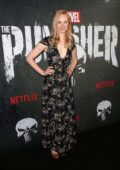 Deborah Ann Woll attends Marvel's The Punisher Premiere at Arclight Hollywood in Los Angeles