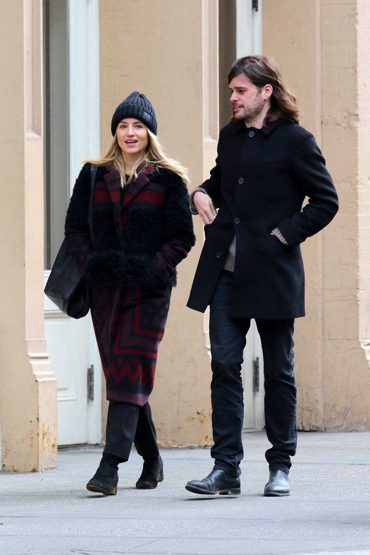Dianna Agron and Winston Marshall steps out for a walk together in New York City