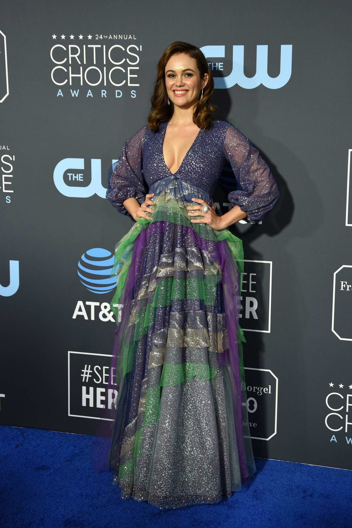 Dina Shihabi attends the 24th Annual Critics' Choice Awards at Barker Hangar in Santa Monica, California