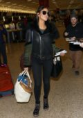 Eiza Gonzalez greets fans at Salt Lake City Airport during the Sundance Film Festival, Utah