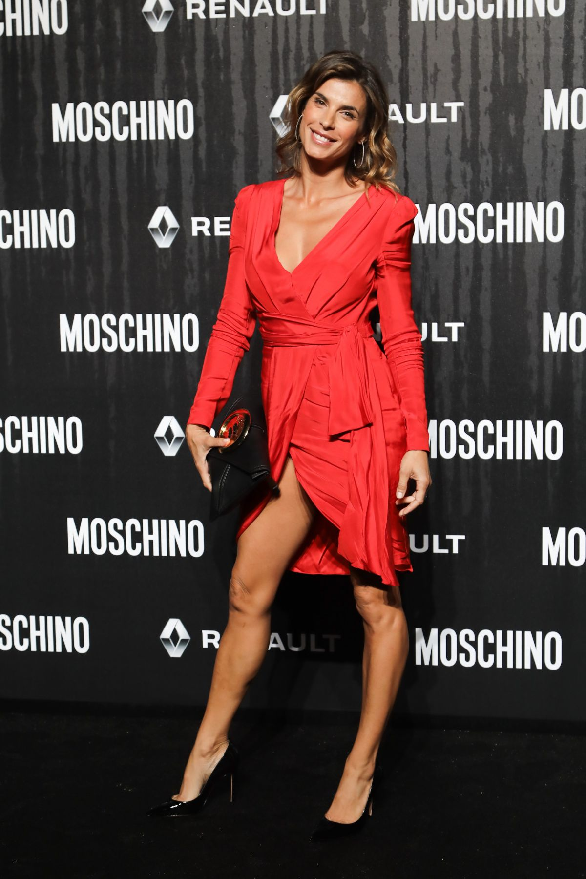 Elisabetta Canalis attends Moschino Fashion Show in Rome, Italy