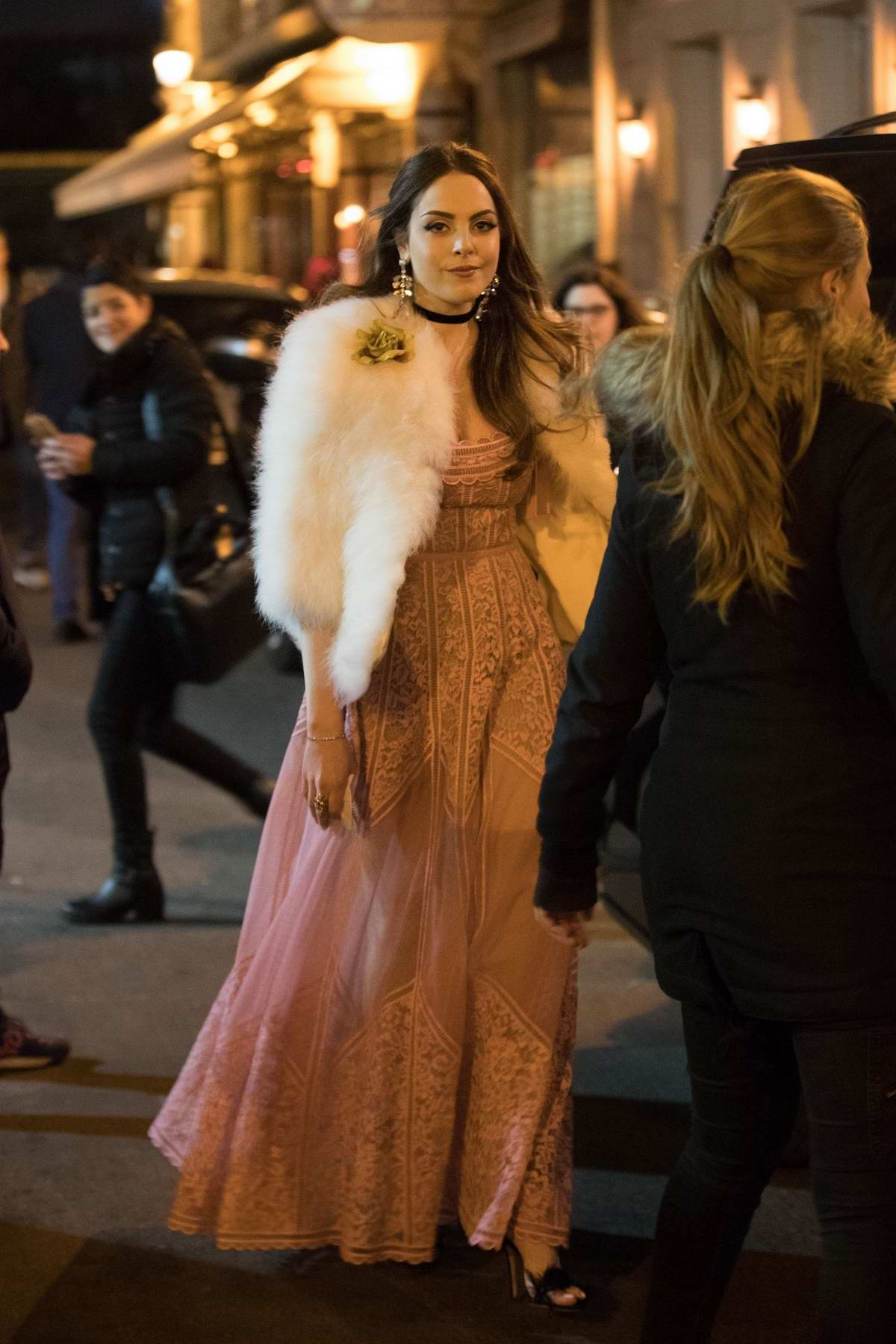 Elizabeth Gillies spotted on the set of Netflix's 'Dynasty' Season 2 at the Louvre in Paris, France