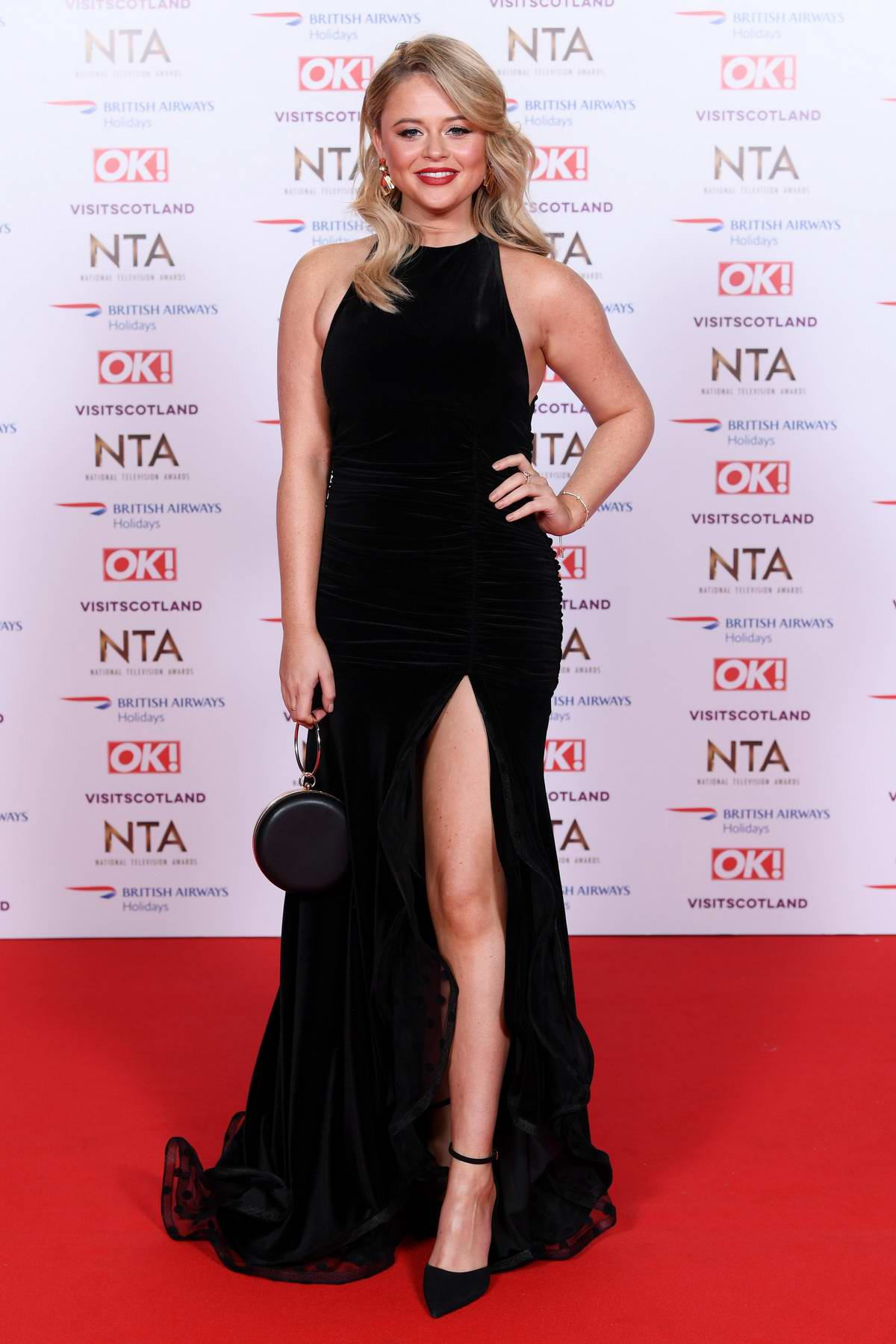 Emily Atack attends 23rd National Television Awards in London, UK