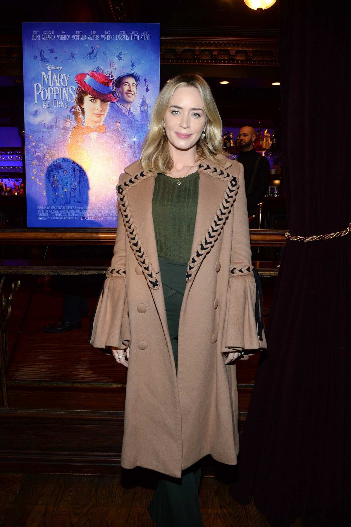 Emily Blunt attends a private screening at Feinstein's/54 Below in New York City
