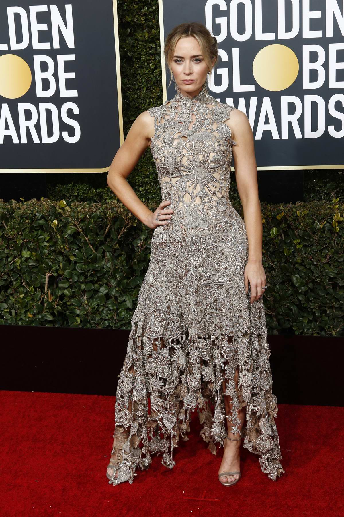 Emily Blunt attends the 76th Annual Golden Globe Awards held at The Beverly Hilton Hotel in Los Angeles, California