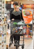 Emma Roberts and Evan Peters shops for some groceries at Gelson's in Los Angeles
