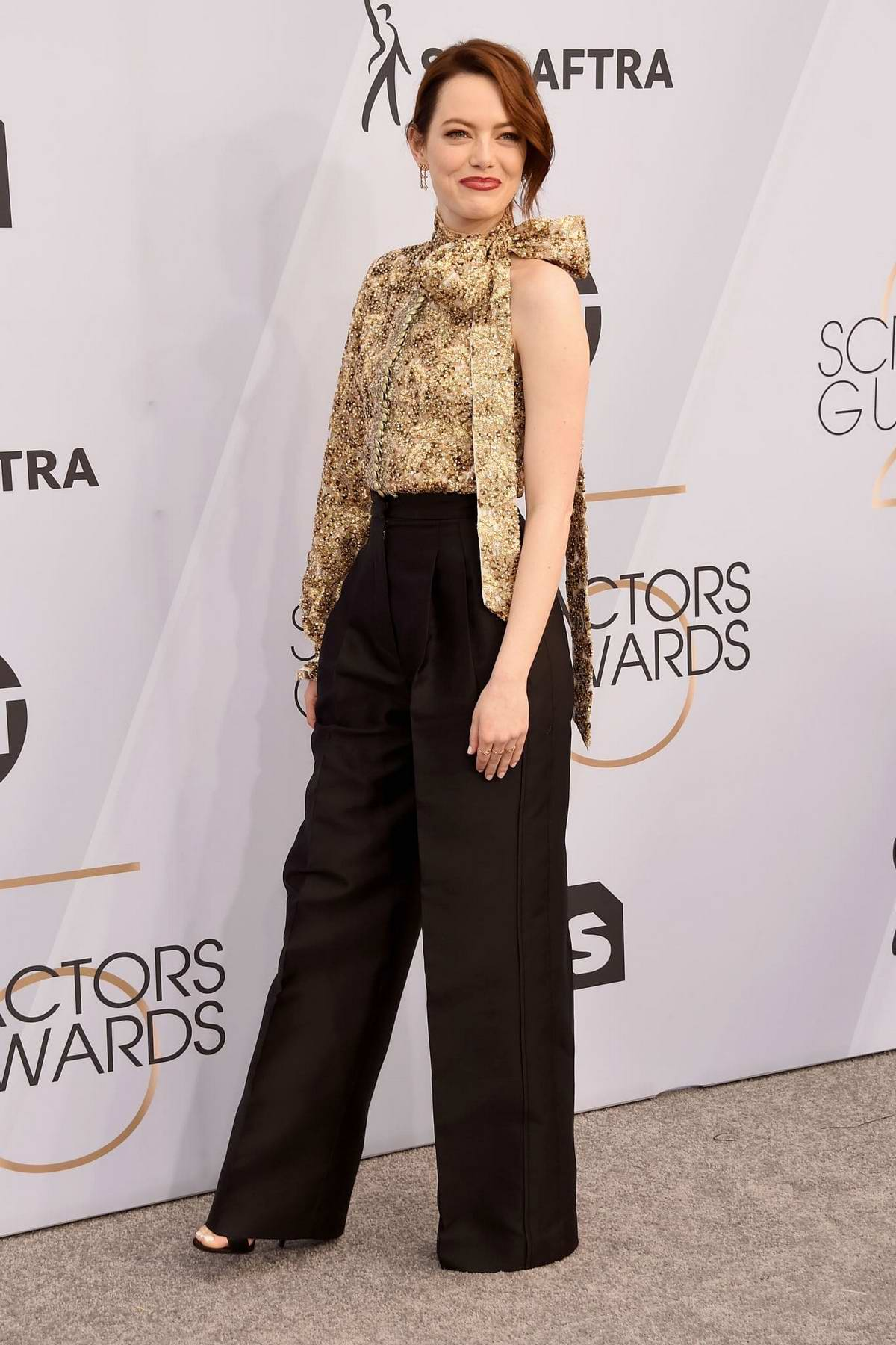 Emma Stone attends the 25th Annual Screen Actors Guild Awards (SAG 2019) at the Shrine Auditorium in Los Angeles