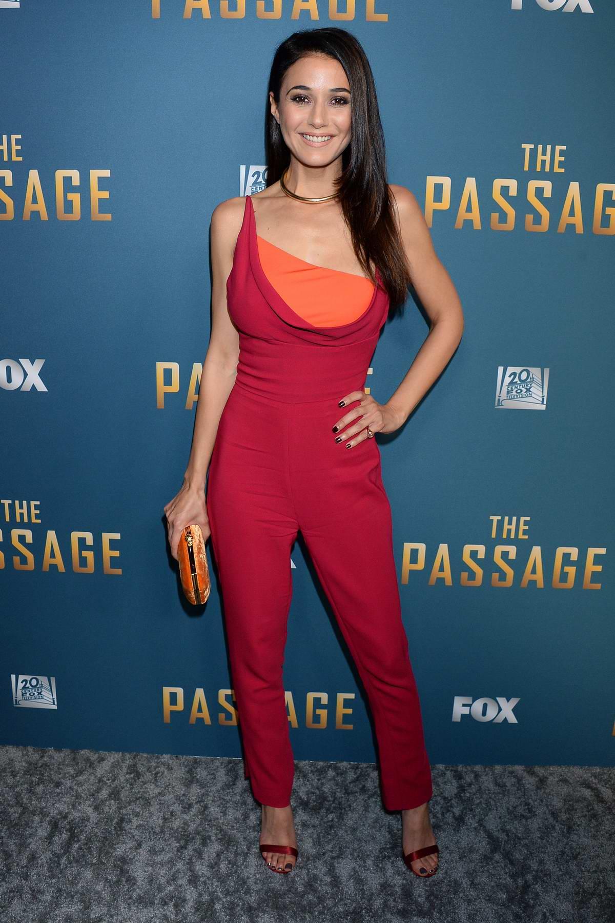 Emmanuelle Chriqui attends 'The Passage' TV Show Premiere in Los Angeles