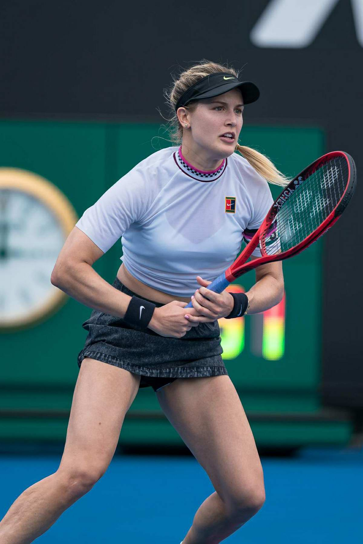 Eugenie Bouchard in action during the 2019 Australian Open in Melbourne, Australia