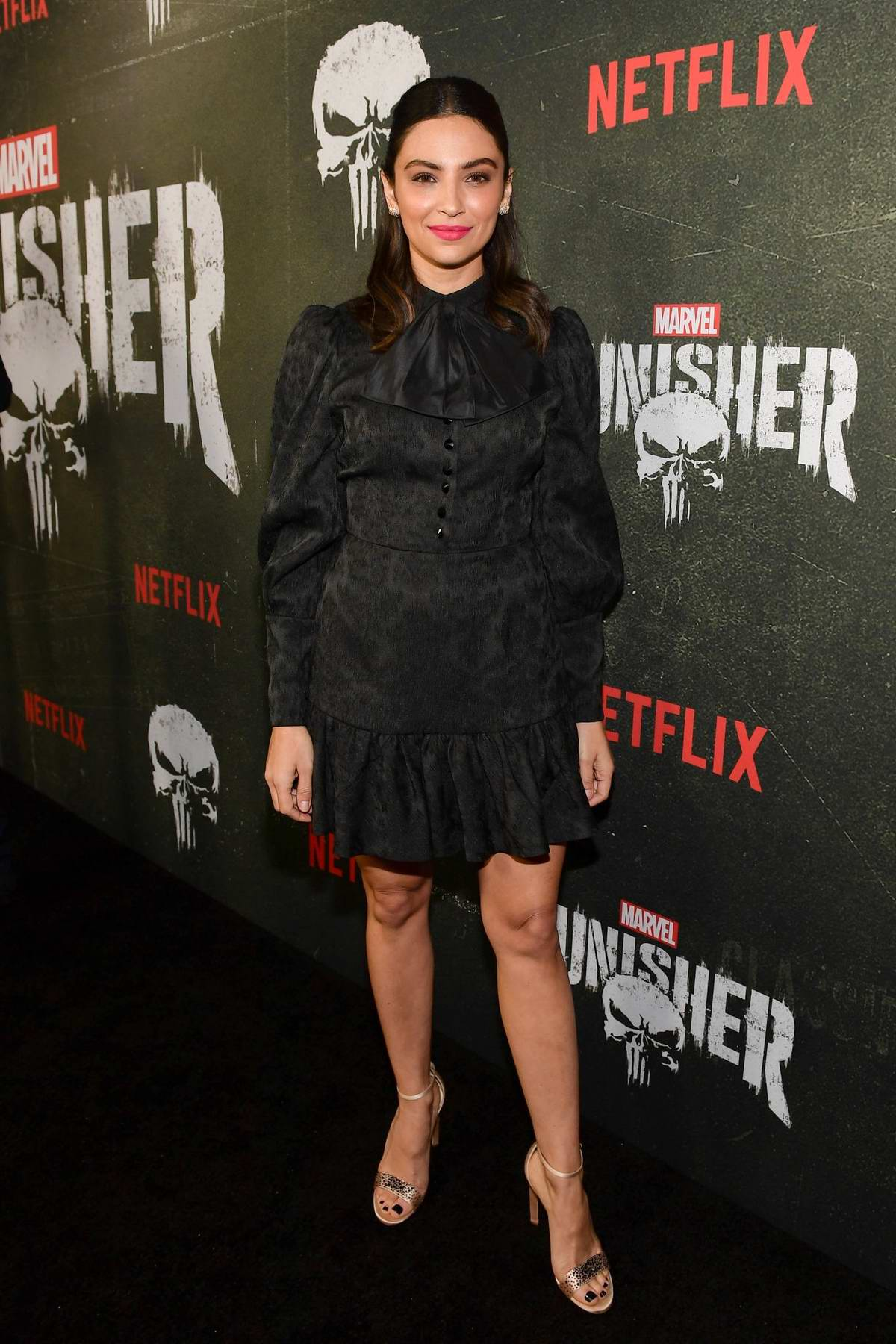 Floriana Lima attends Marvel's The Punisher Premiere at Arclight Hollywood in Los Angeles