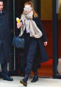 Gigi Hadid looks stylish in all black as she leaves her apartment in New York City