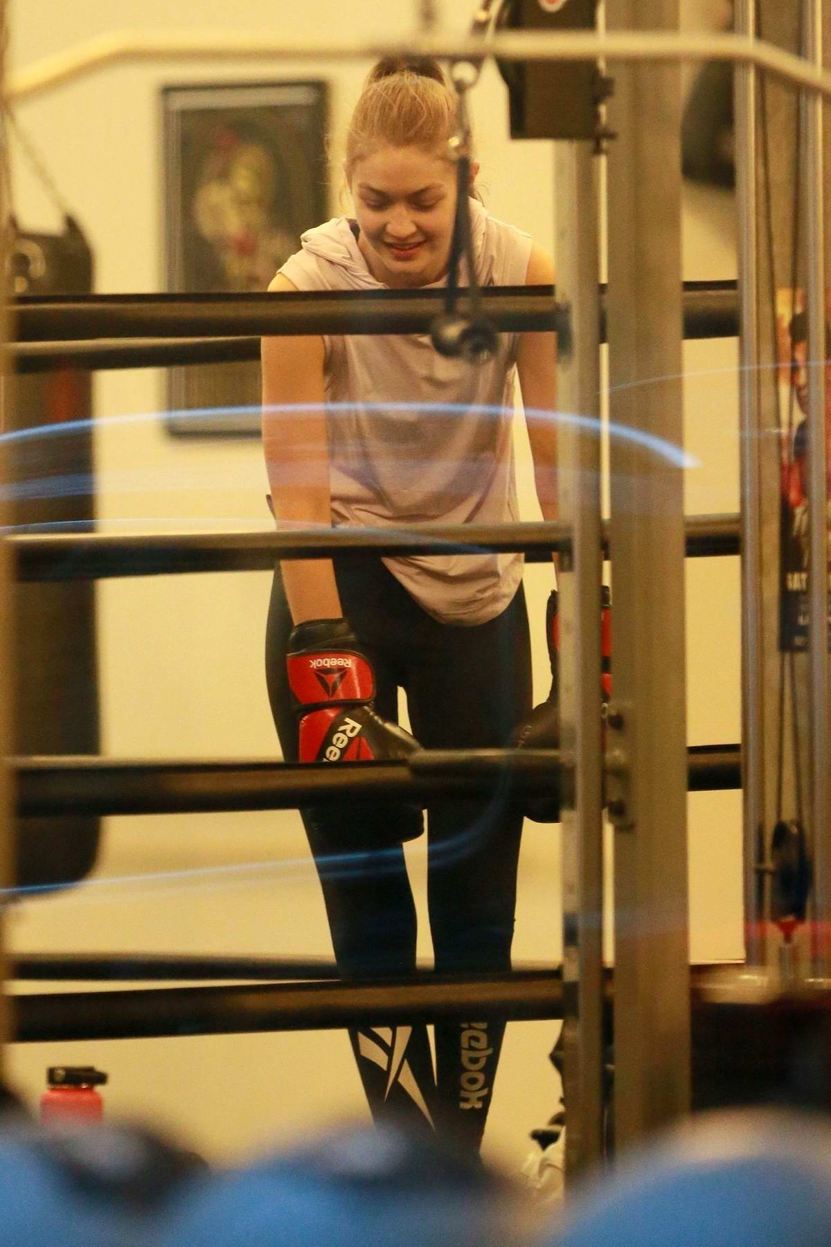 Gigi Hadid spotted during her boxing training session at the Gotham Gym in New York City
