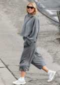 Gwyneth Paltrow looks cool in grey sweats while out to lunch in Brentwood, Los Angeles