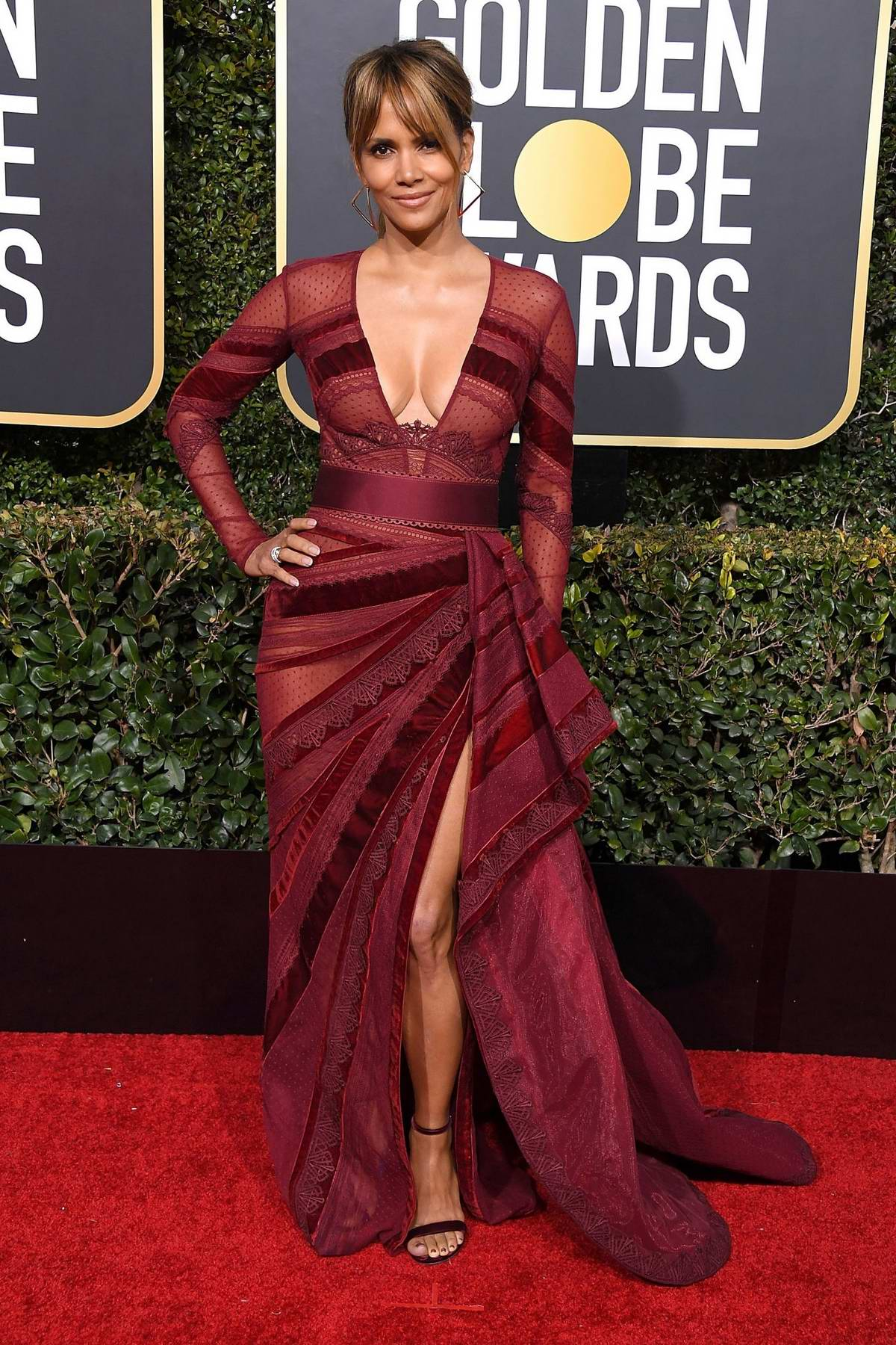 Halle Berry attends the 76th Annual Golden Globe Awards held at The Beverly Hilton Hotel in Los Angeles, California