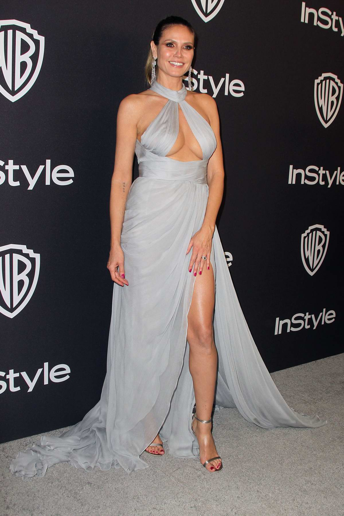 Heidi Klum attends InStyle and Warner Bros Golden Globe After Party 2019 at Beverly Hilton Hotel in Beverly Hills, California