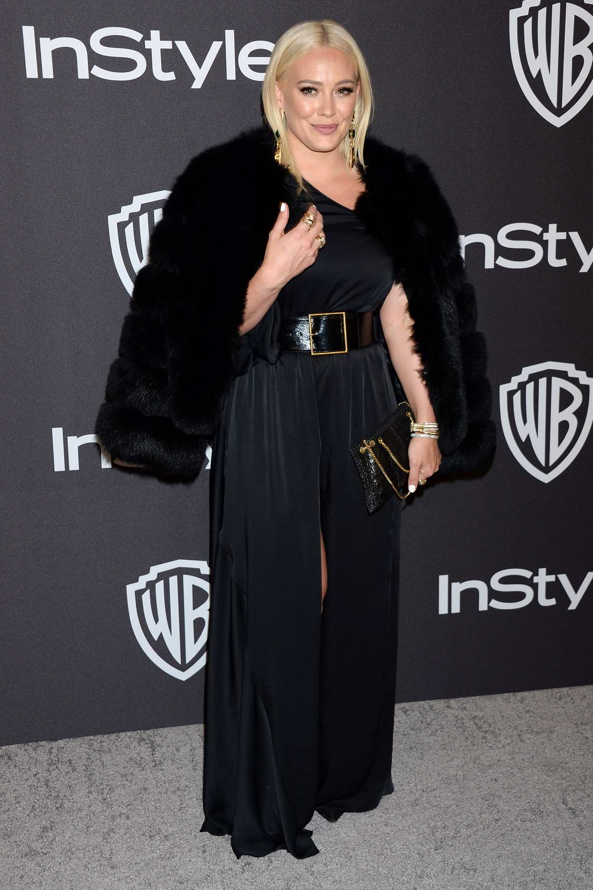 Hilary Duff attends InStyle and Warner Bros Golden Globe After Party 2019 at Beverly Hilton Hotel in Beverly Hills, California