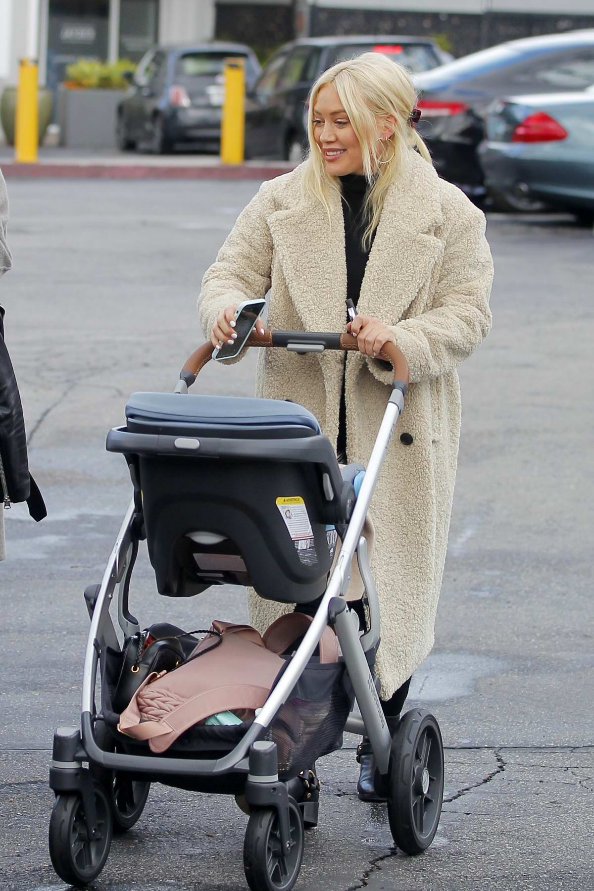 Hilary Duff is all smiles while out for some shopping with her daughter and son in Beverly Hills, Los Angeles