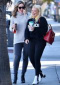Hilary Duff is all smiles while out with a friend for breakfast at The Sweet Butter Kitchen in Sherman Oaks, Los Angeles