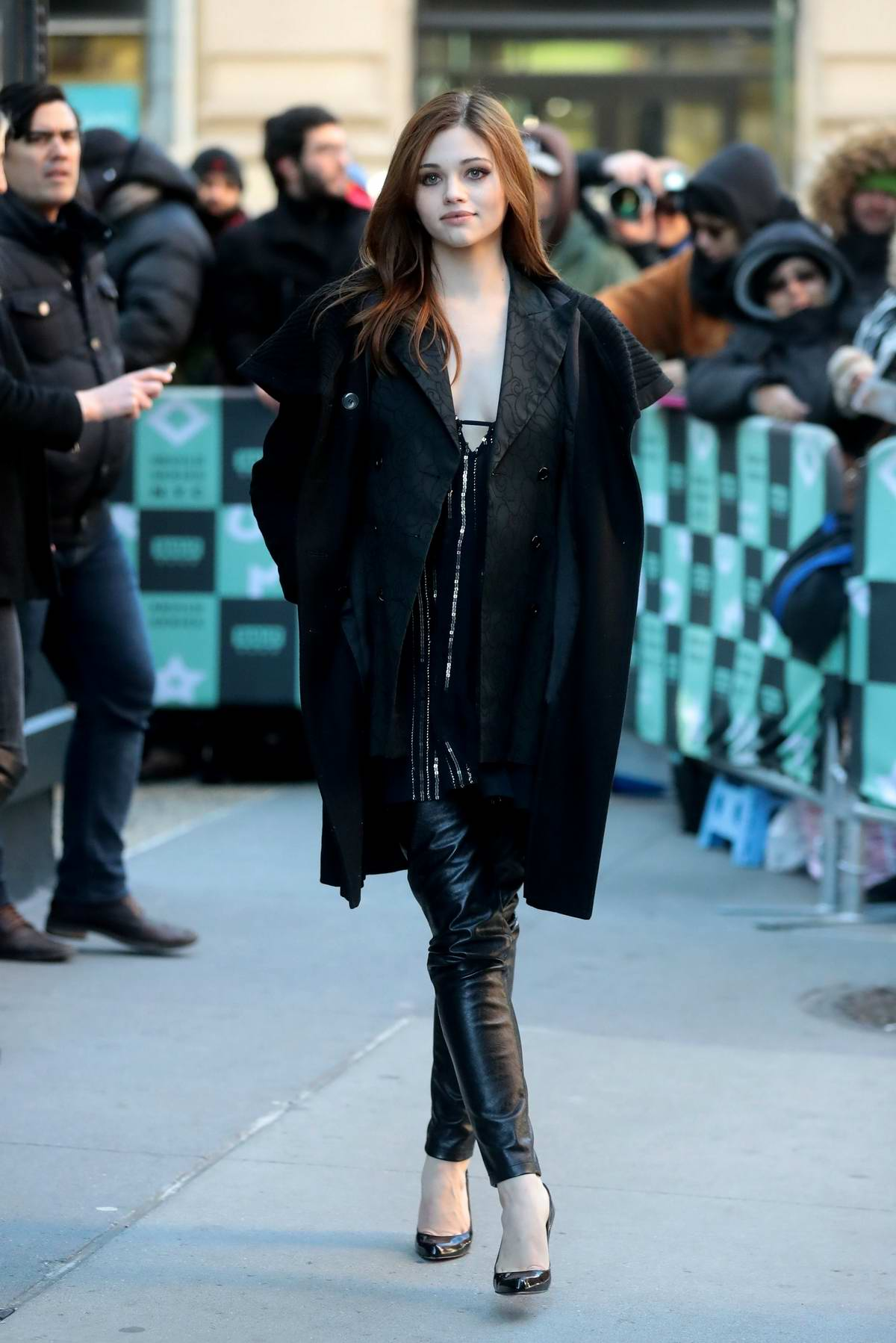 India Eisley promotes 'I Am The Night' at AOL Build Series in New York City
