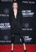 Ireland Baldwin attends On The Record Grand Opening Red Carpet at Park MGM in Las Vegas, Nevada
