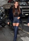 Irina Shayk looks super chic while out during Paris Fashion Week in Paris, France