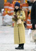 Jenna Coleman and boyfriend Tom Hughes shop at Whole Foods and Detox Market in SoHo, New York City