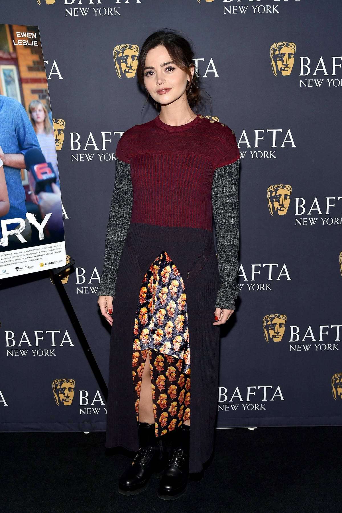 Jenna Coleman attends 'The Cry' BAFTA Film Screening in New York City