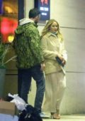 Jennifer Lawrence and Cooke Maroney enjoys a dinner date at Hwa Yuan Szechuan in Chinatown, New York City