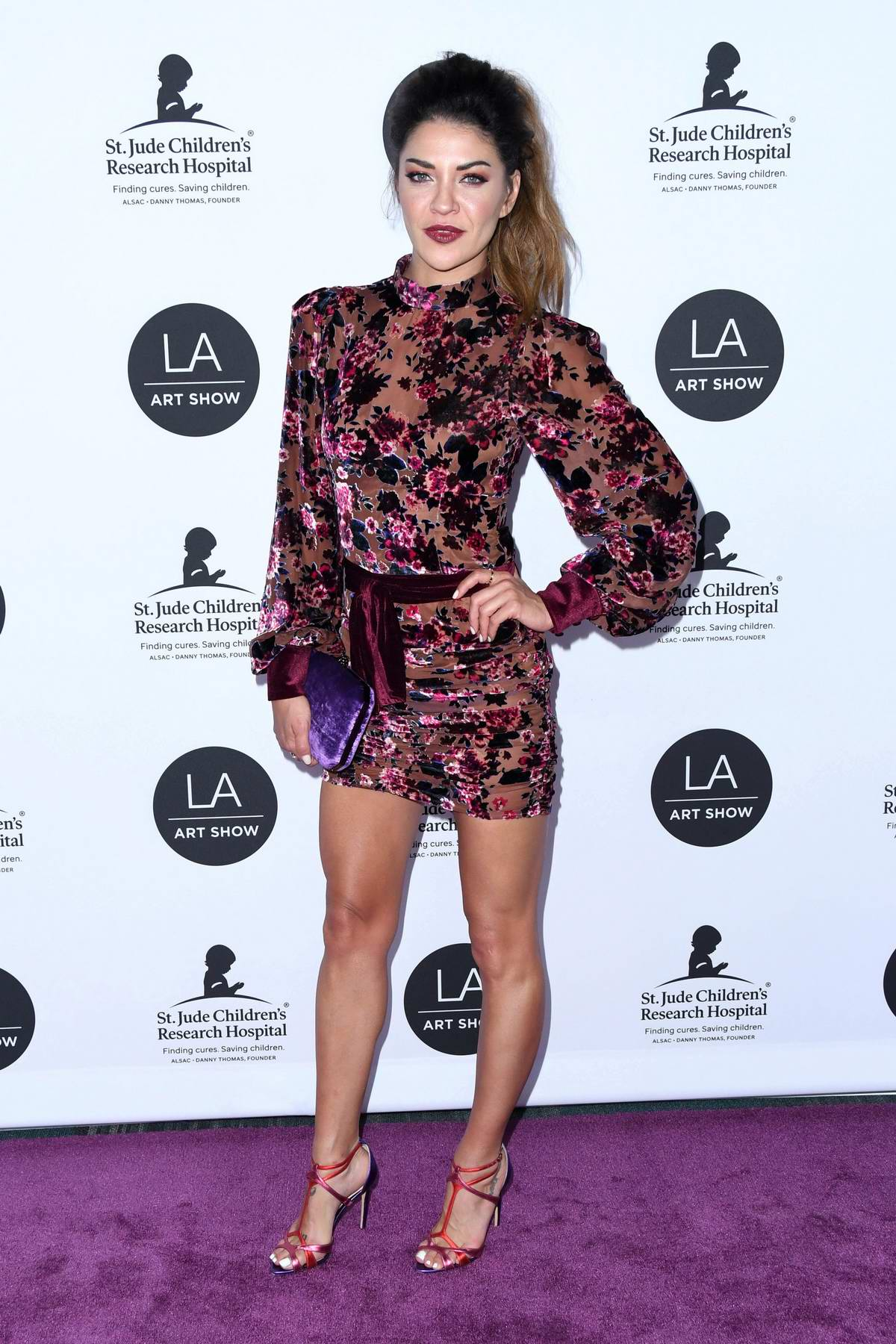 Jessica Szohr attends the 24th Annual LA Art Show held at The Convention Center in Los Angeles