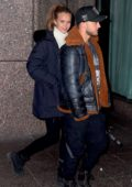 Josephine Skriver and fiance Bohnes steps out for a night out in New York City