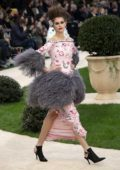 Kaia Gerber walks the runway at the Chanel Haute Couture Spring/Summer 2019 Show during Paris Fashion Week in Paris, France
