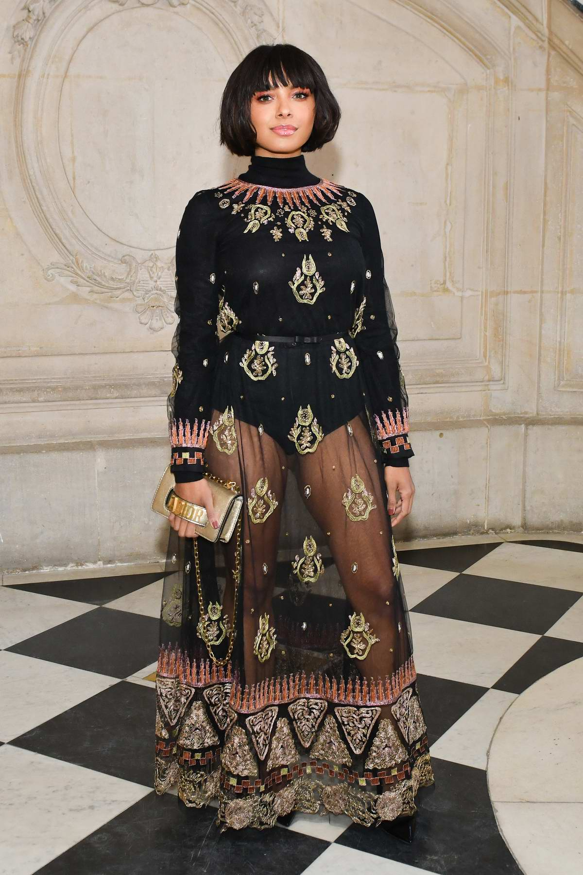 Kat Graham attends the Christian Dior Haute Couture Spring/Summer 2019 Show during Paris Fashion Week in Paris, France