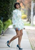 Kat Graham looks chic in a short dress while out in Los Angeles