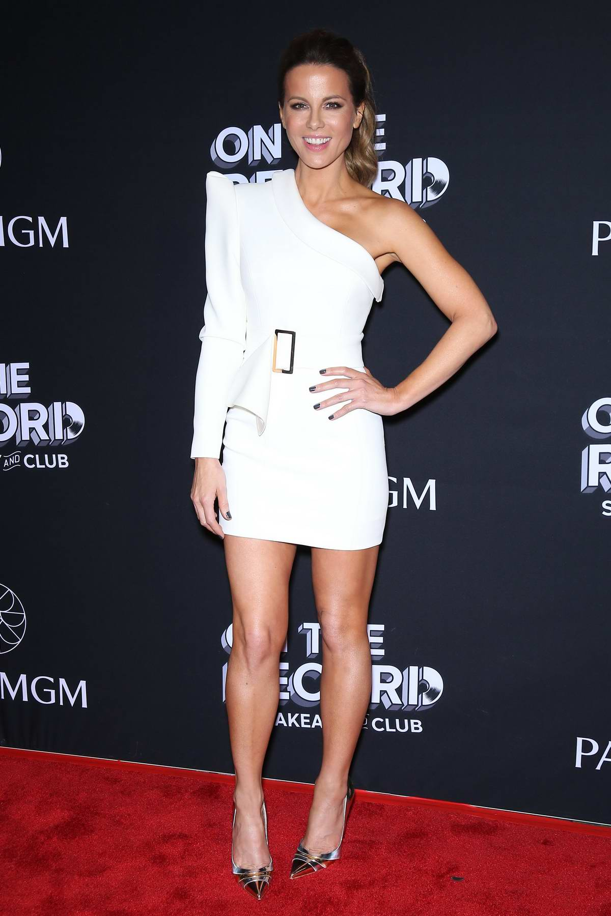 Kate Beckinsale attends On The Record Grand Opening Red Carpet at Park MGM in Las Vegas, Nevada