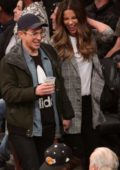 Kate Beckinsale seen courtside with Stephen Simbari at the Los Angeles Lakers and Cleveland Cavaliers game at Staples Center in Los Angeles