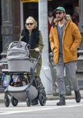 Kate Hudson and Danny Fujikawa steps out for a stroll with their baby in New York City