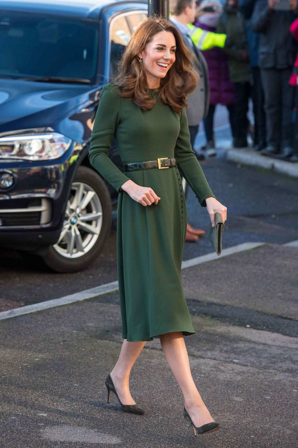 Kate Middleton visits a new National Support Line at the Charity, Family Action in Lewisham, UK
