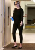 Kate Upton dons all black for a meeting in Beverly Hills, Los Angeles