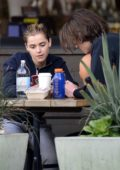 Kiernan Shipka enjoys lunch with a mystery guy outside Erewhon Market in Los Angeles